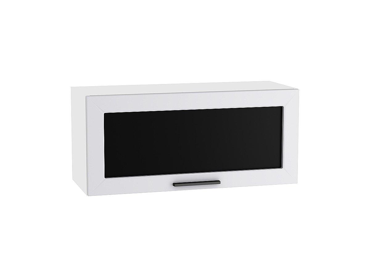Шкаф верхний горизонтальный остекленный Глетчер 800