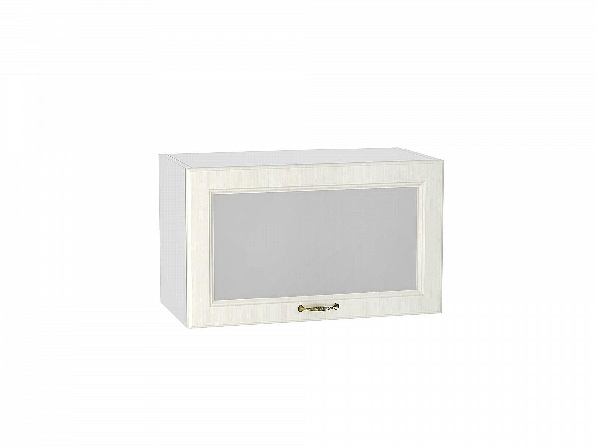 Шкаф верхний горизонтальный остекленный Виктория/600