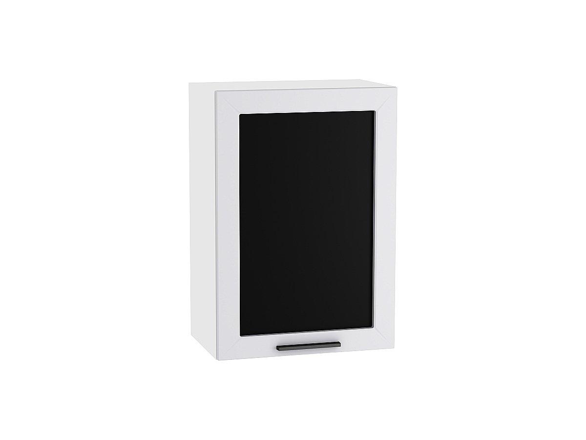 Шкаф верхний с 1-ой остекленной дверцей Глетчер 500