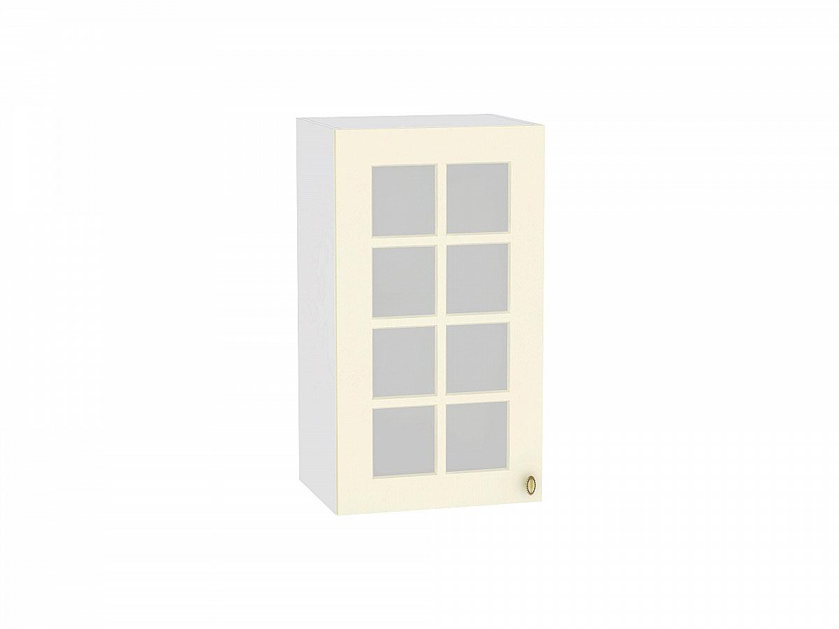 Шкаф верхний с 1-ой остекленной дверцей Прованс 400