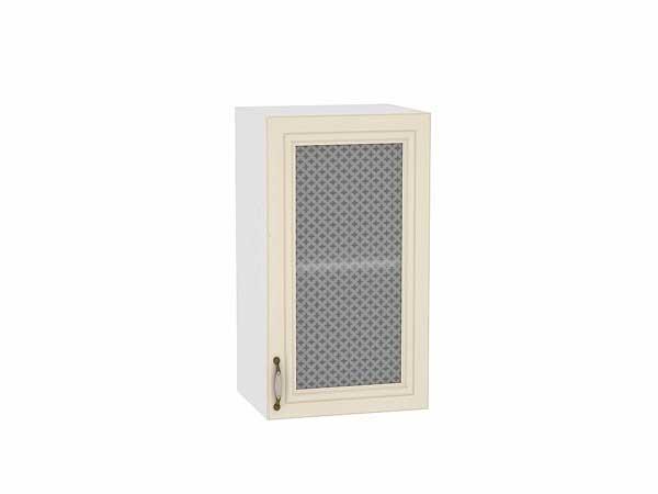 Шкаф верхний с 1-ой остекленной дверцей Шале 400