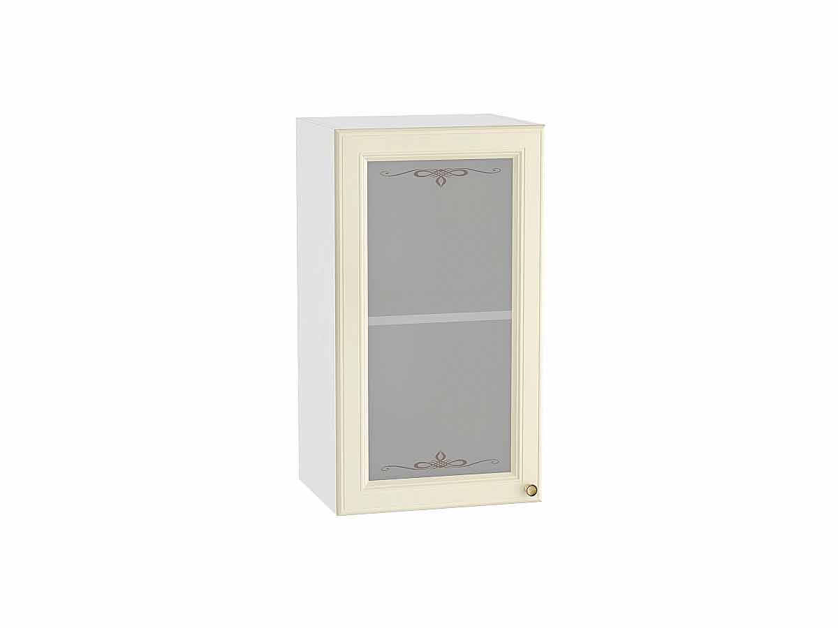 Шкаф верхний с 1-ой остекленной дверцей Версаль 400