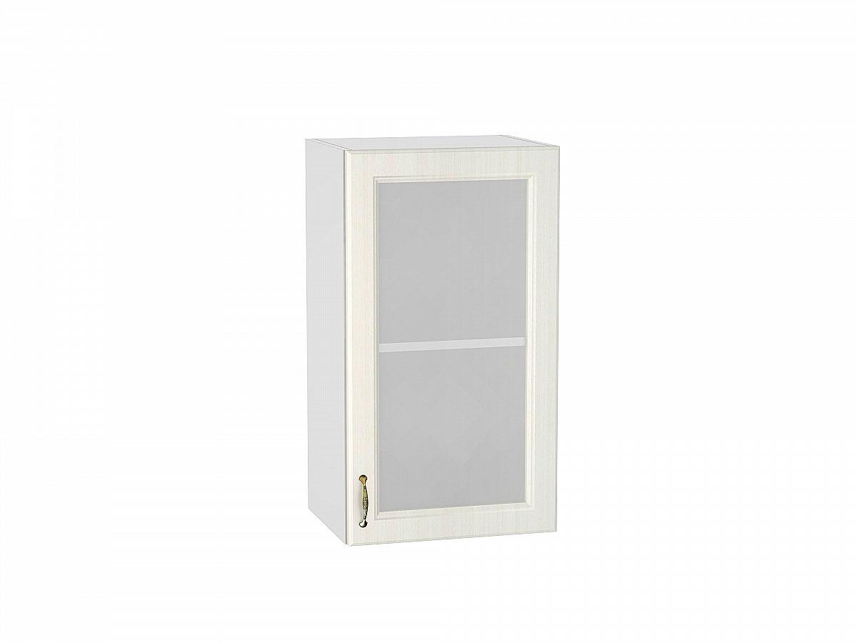 Шкаф верхний с 1-ой остекленной дверцей Виктория/400