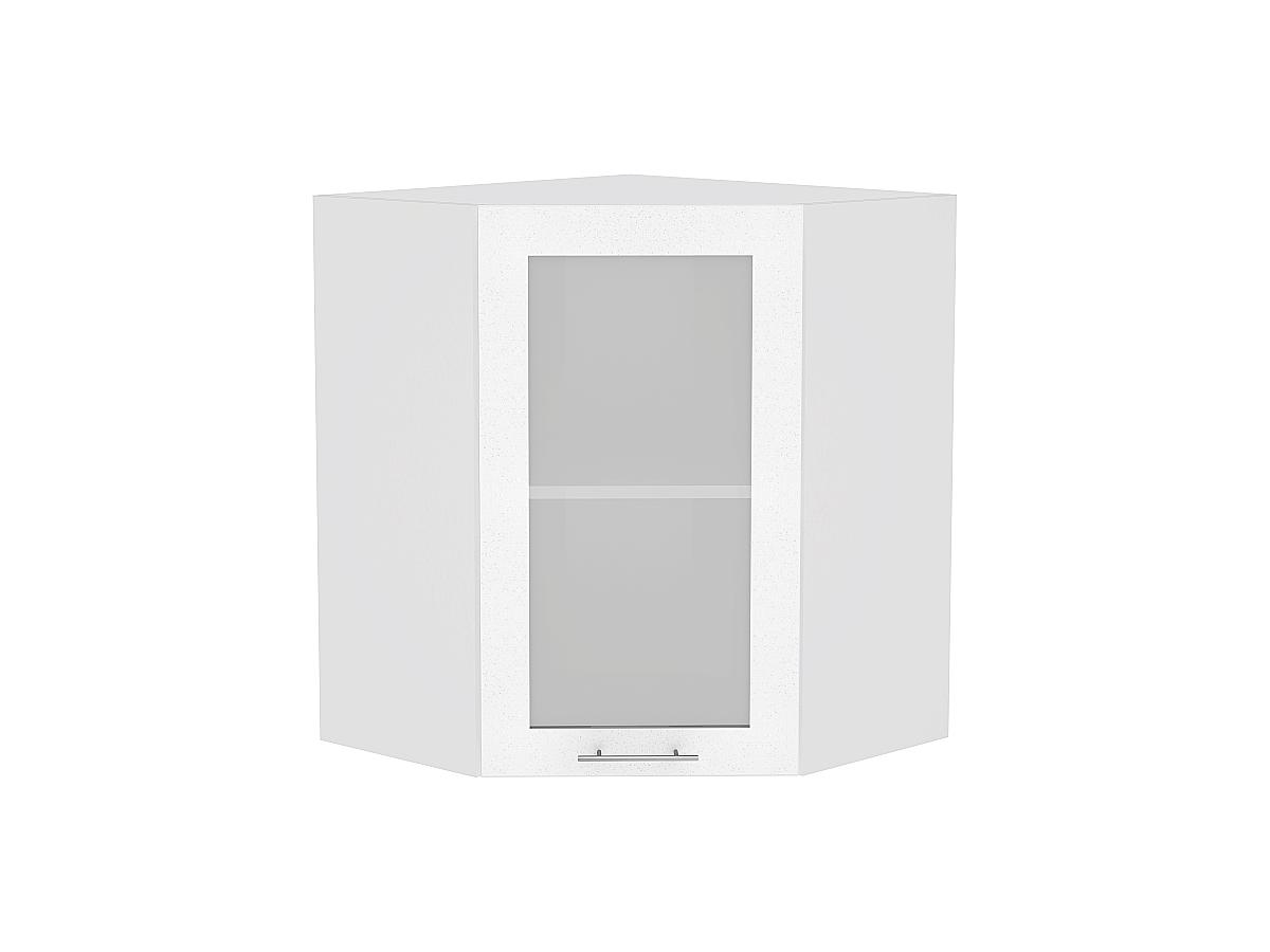 Шкаф верхний угловой остекленный Валерия-М 920