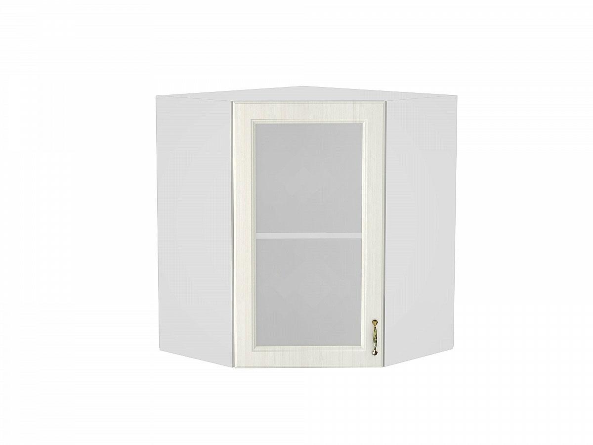 Шкаф верхний угловой остекленный Виктория