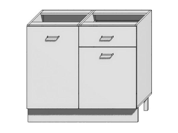 Шкаф нижний с 2-мя дверцами и 1- м ящиком Loft 1000