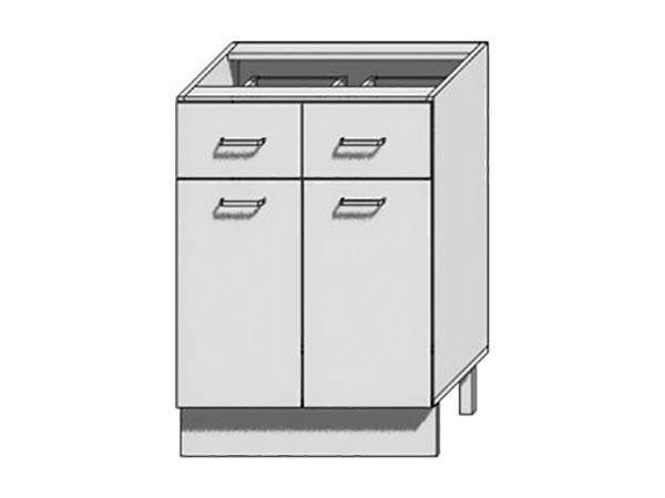 Шкаф нижний с 2-мя дверцами и 2-мя ящиками Вита 600