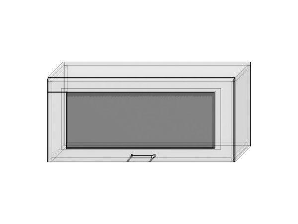 Шкаф верхний горизонтальный остекленный Loft 800