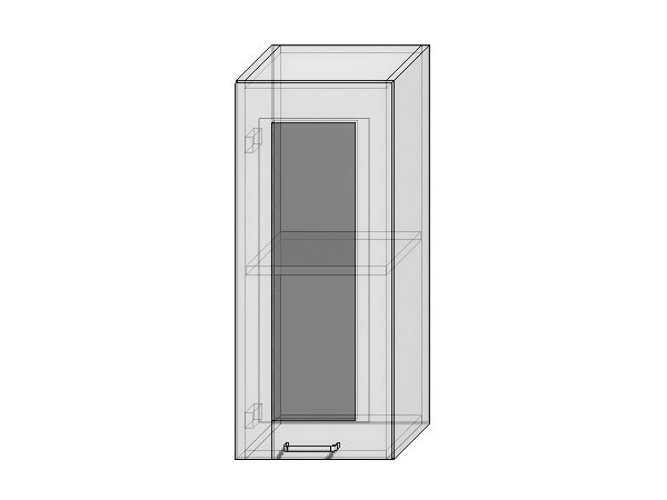 Шкаф верхний с 1-ой остекленной дверцей Валерия-М 300х920