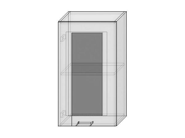 Шкаф верхний с 1-ой остекленной дверцей Loft 400