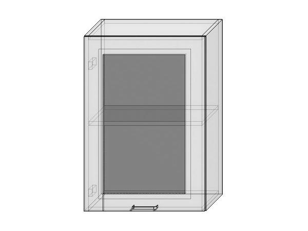 Шкаф верхний с 1-ой остекленной дверцей Валерия-М 500х920