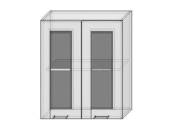 Шкаф верхний с 2-мя остекленными дверцами Loft 600