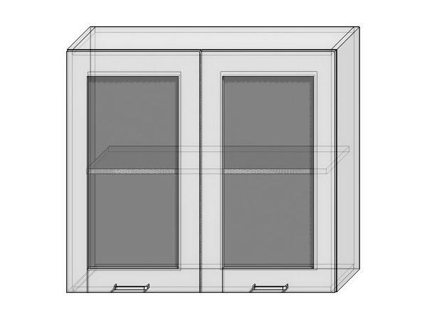 Шкаф верхний с 2-мя остекленными дверцами Loft 800